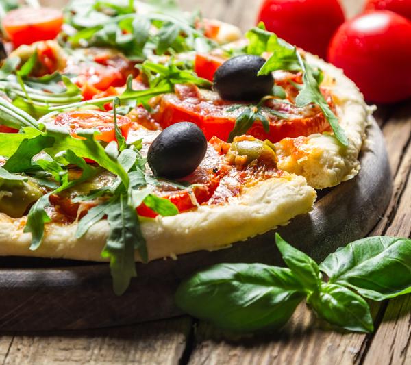 Pizza trifft Salat